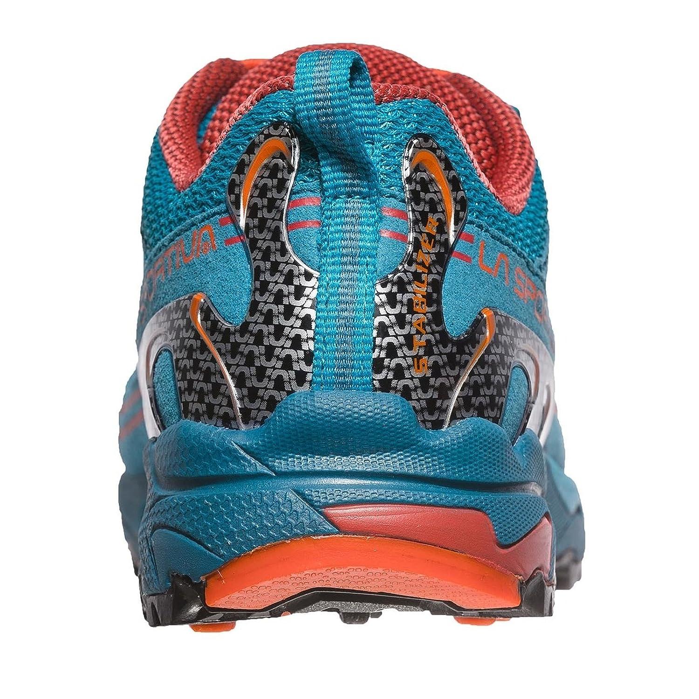 La Sportiva Jynx 27-35, Chaussures de Randonnée Basses Mixte Enfant, Multicolore-Bleu/Orange (Tropic Blue/Tangerine 000), 32 EU