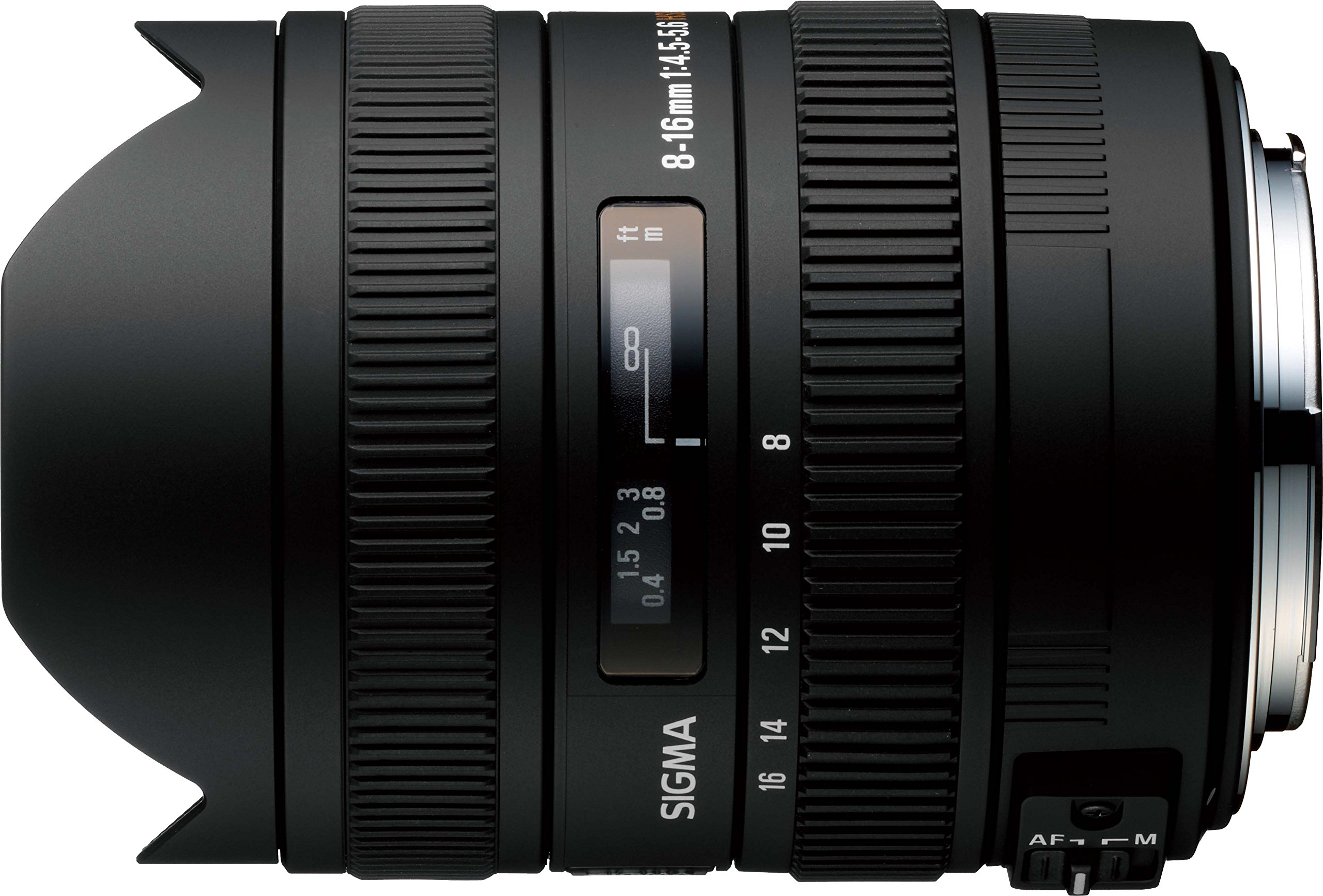 Sigma 8-16mm f/4.5-5.6 DC HSM FLD AF Ultra Wide Zoom Lens for APS-C sized Nikon Digital DSLR Camera