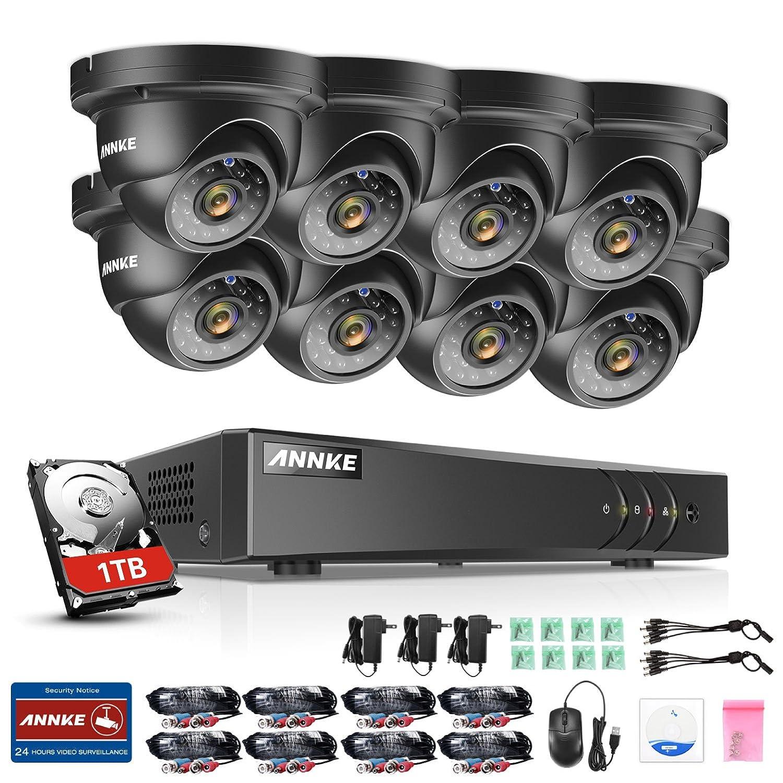 Lote de 8/Pegatinas Redondo c/ámara IP de vigilancia/ /dissuasif para los Ladrones /Uso Exterior y Interior/ /95/mm/