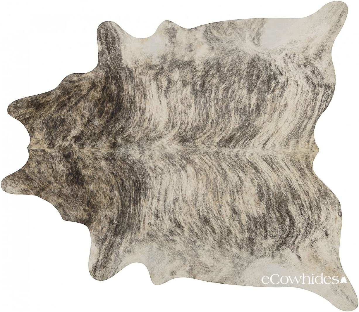 eCowhides Light Brindle Brazilian Cowhide Area Rug, Cowskin Leather Hide for Home Living Room XXL 8 x 7 ft