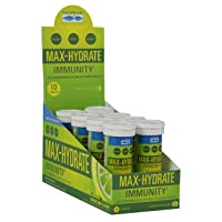 Max-Hydrate Immunity Effervescent Tablets, Non GMO, Lemon Lime. Trace Minerals....