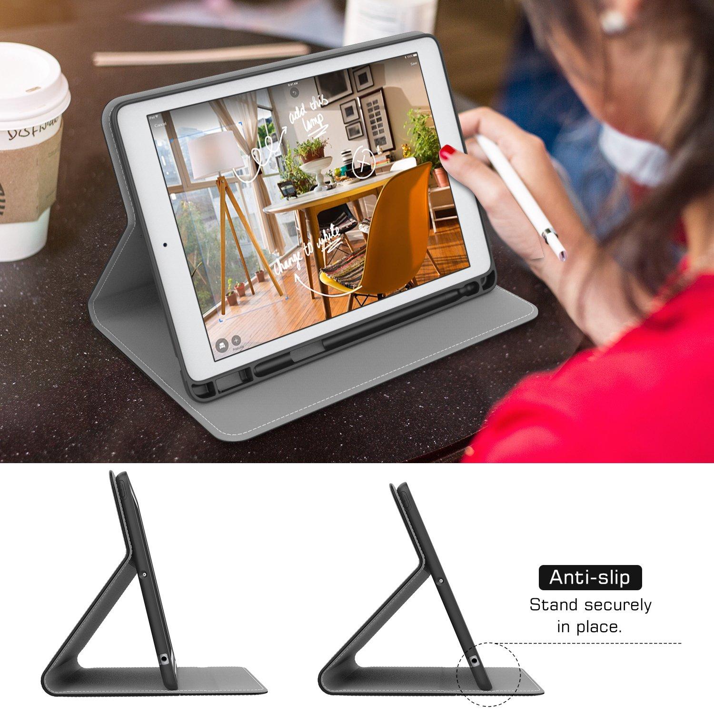 MoKo Etui pour iPad 9.7 2018 avec Apple Pencil Holder Protection Anti-Choc l/éger de premi/ère qualit/é pour iPad 9.7Pouces 2018 Indigo ,R/éveil//Sommeil Auto A1893 // A1954