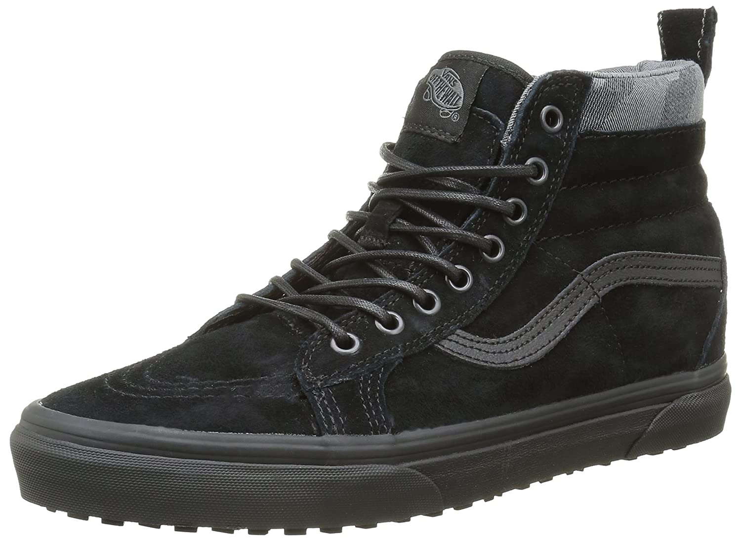 Vans Sk8-Hi Unisex Casual High-Top Skate Shoes, Comfortable and Durable in Signature Waffle Rubber Sole B019KVCCY6 7.5 M US Women / 6 M US Men|Black/Black Camo