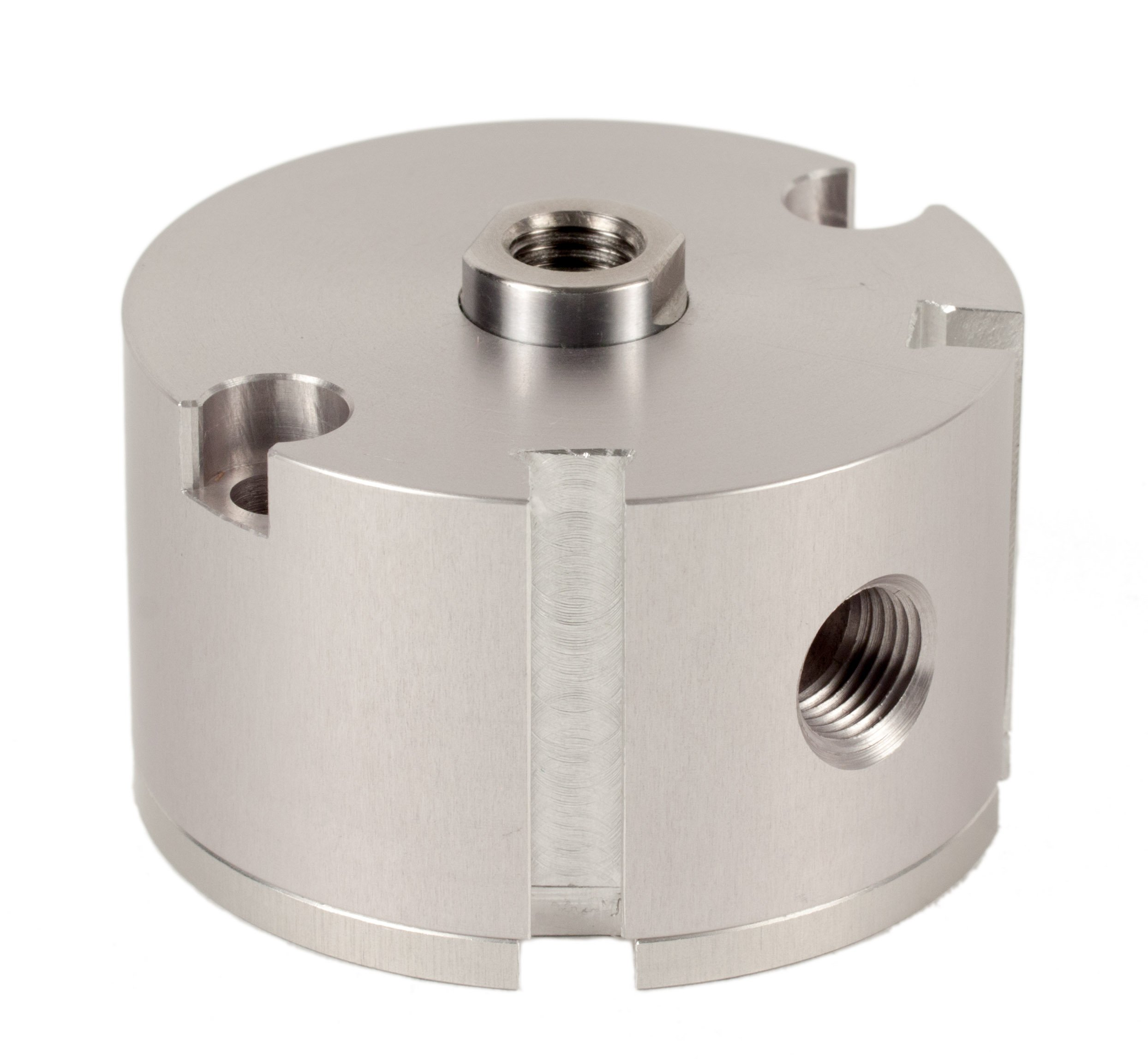 Fabco-Air D-121-X-E Original Pancake Cylinder, Double Acting, Maximum Pressure of 250 PSI, Switch Ready with Magnet, 1-1/8'' Bore Diameter x 1/2'' Stroke