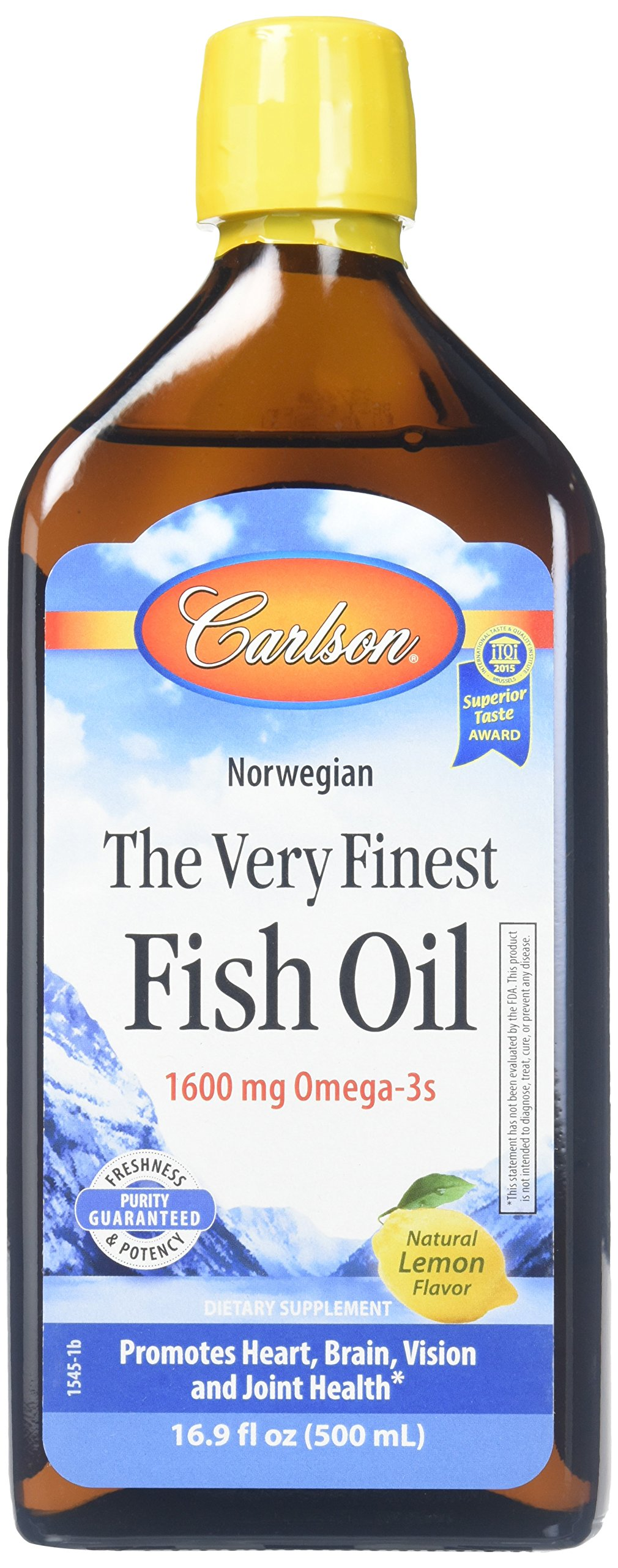 Amazon Com Carlson Cod Liver Oil Lemon 1 100 Mg Omega