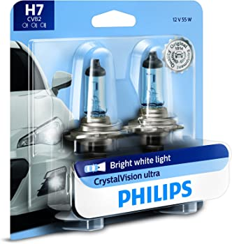 Philips H7 CrystalVision White Headlight