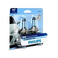 Philips 12972CVB2 H7 CrystalVision Ultra Upgrade Headlight Bulb, 2 Pack