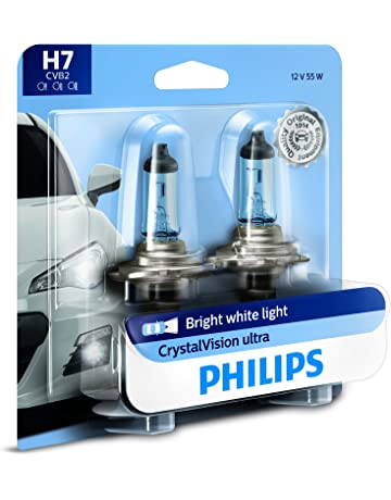 Philips H7 CrystalVision Ultra Upgrade Bright White Headlight Bulb, 2 Pack