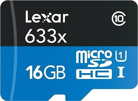 Lexar High-Performance 633x 16GB microSDHC UHS-I Card w/SD Adapter