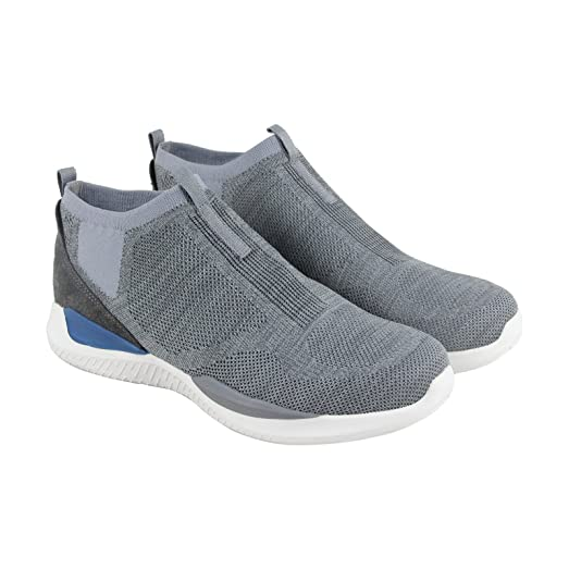 Matrixx Mesday Mens Gray Mesh Slip On Lace Up Sneakers Shoes 8