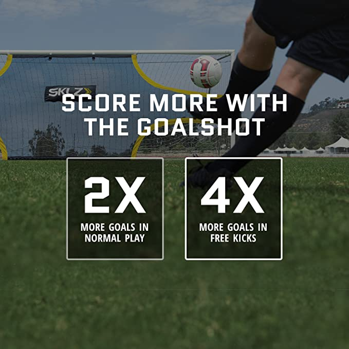 SKLZ Goalshot - Soccer Goal Target Net Creates Visual Focus for Scoring and  Finishing. Fits 24-Foot by 8-Foot Official Game Size Goal d9eb1cc8e