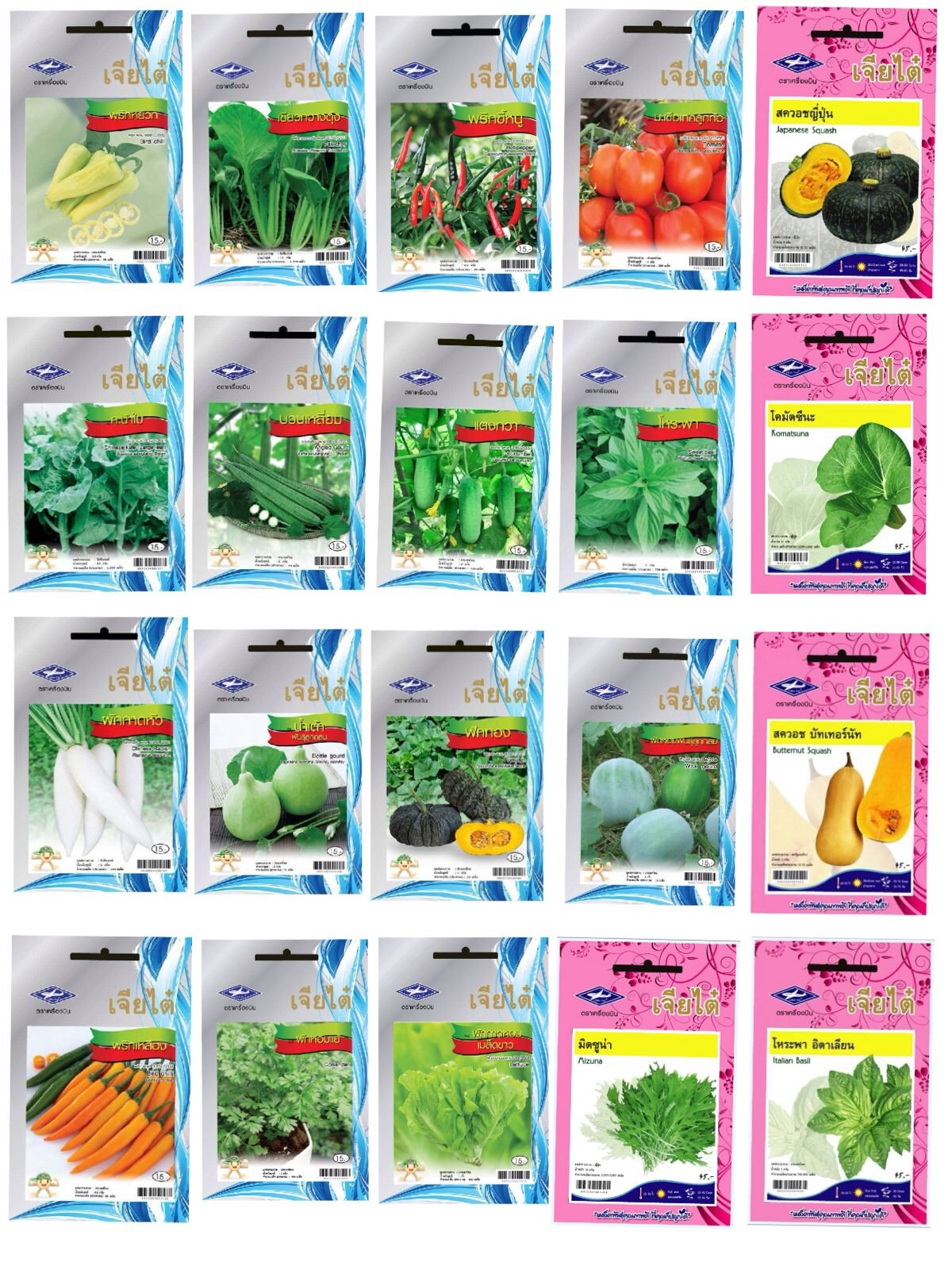 Chia Tai 20 Kinds of Vegetable Seeds. High Quality Seeds.premium Grad. by MIPE_seeds shop