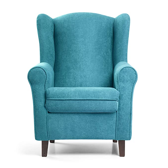 SUENOSZZZ - Sillon Relax, Sillon orejero para Lactancia Irene. Tapiceria Antimanchas acualine Color Turquesa. Butaca para Dormitorio, Salon o ...