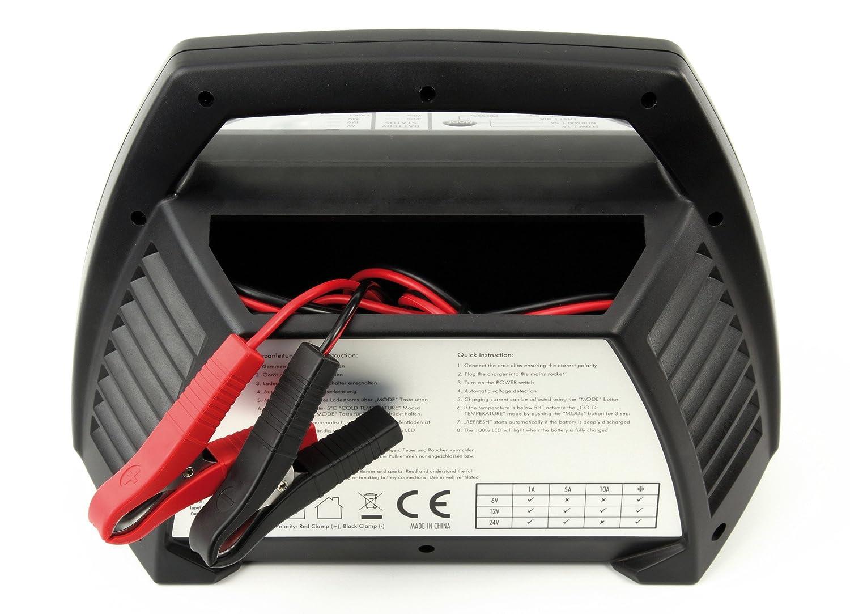 polyvalent pour batteries de 6V vendu avec pinces crocodile Chargeur automatique pour batteries au plomb ANSMANN ALCT 6-24//10 12V /& 24V