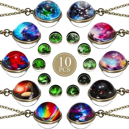 10 Piezas Collares Colgante de Galaxia Collar de Espacio ...