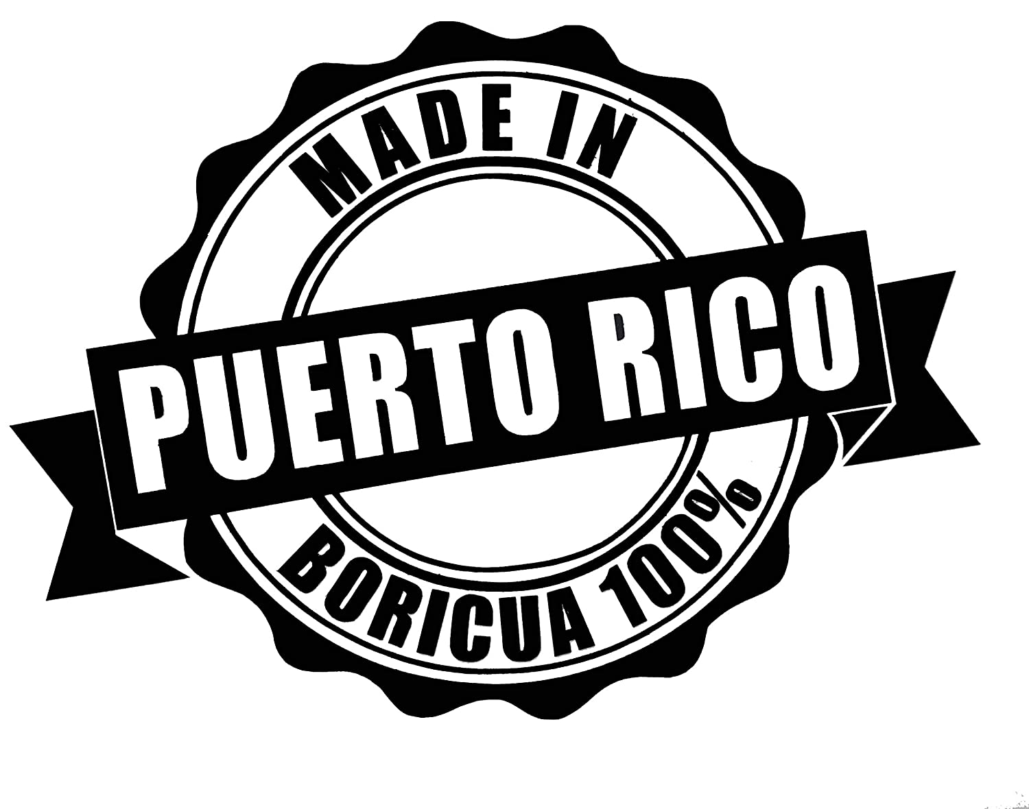 Amazon com custom made in puerto rico vinyl decal personalized puerto rican bumper sticker for laptops or car windows pick size and color handmade