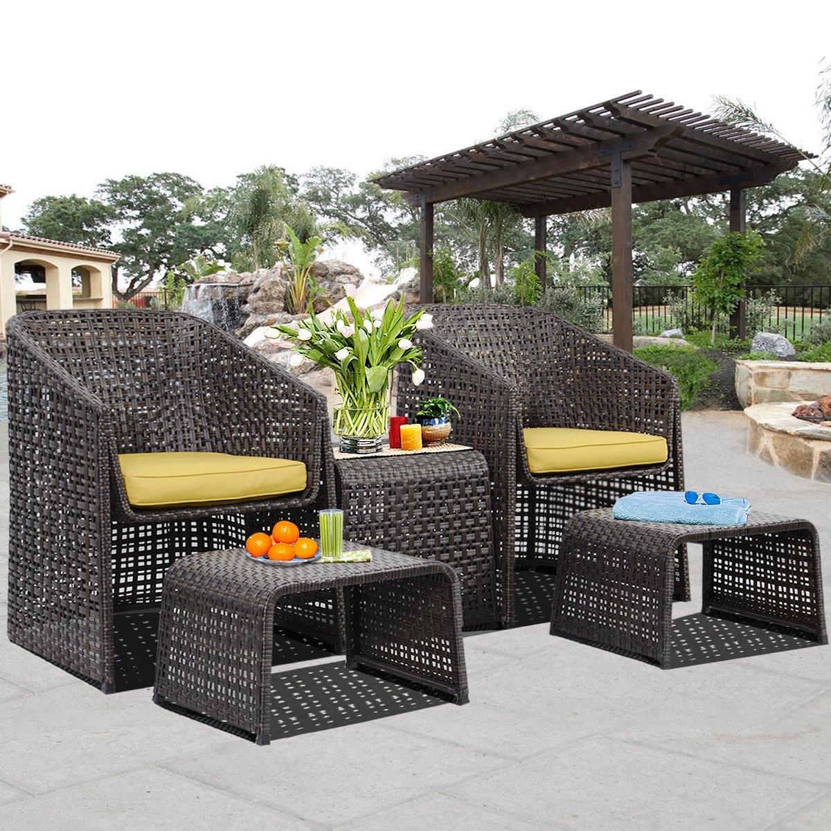 Amazon.de: Sitzgruppe Gartenmöbel Rattan Lounge Set Polyratten ...
