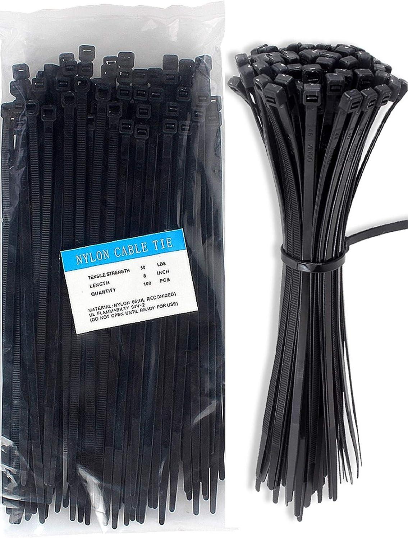 100PCS Self-Locking Nylon Plastic Cable Ties Zip Tie Lock Wraps DIY Multi-use