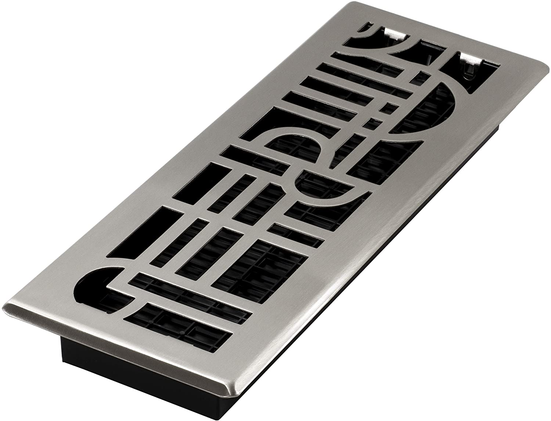 Decor Grates ADH414-NKL Floor Register, 4x14, Brushed Nickel