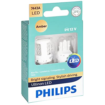 Philips 7443ALED Ultinon LED Bulb (Amber), 2 Pack: Automotive