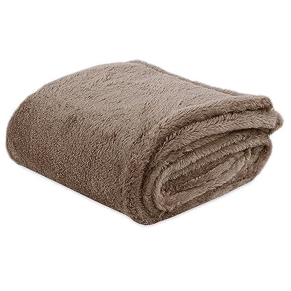 Amazon Berkshire Blanket ExtraFluffy Throw Blanket Latte Enchanting Berkshire Blanket Fluffy Throw