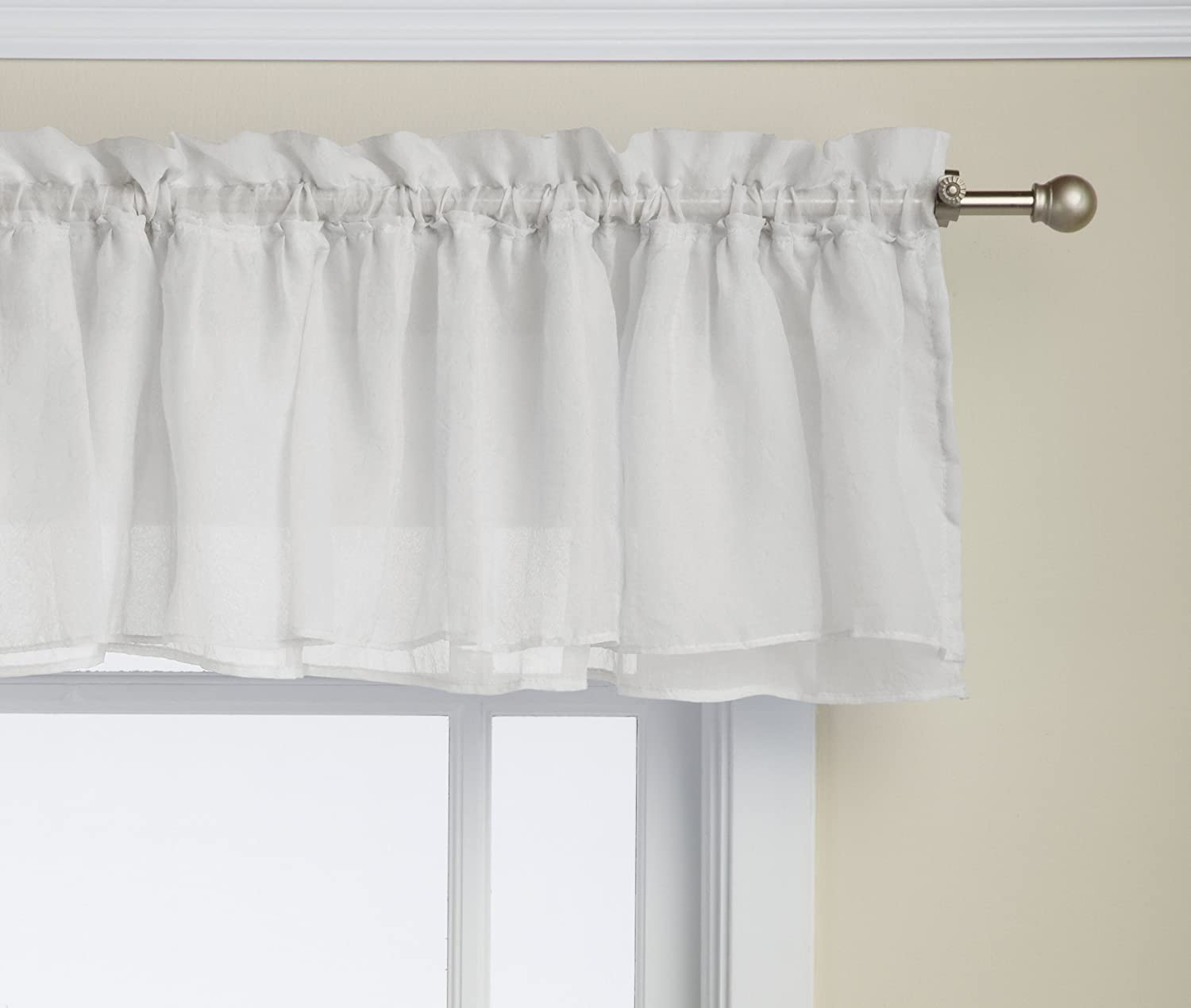 Elegant Amazon.com: Lorraine Home Fashions Gypsy Shabby Chic Layered Ruffle Window  Valance, 60 By 15 Inch, White: Home U0026 Kitchen