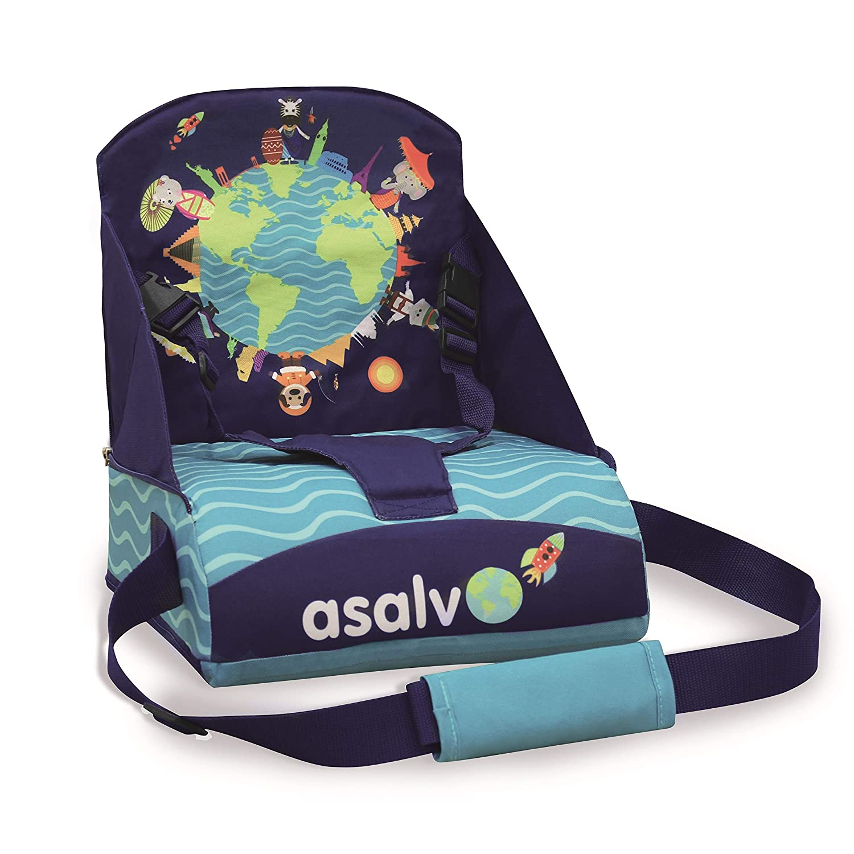 Bleu Rehausseur chaise haute Baby Fox collection Animaux du monde