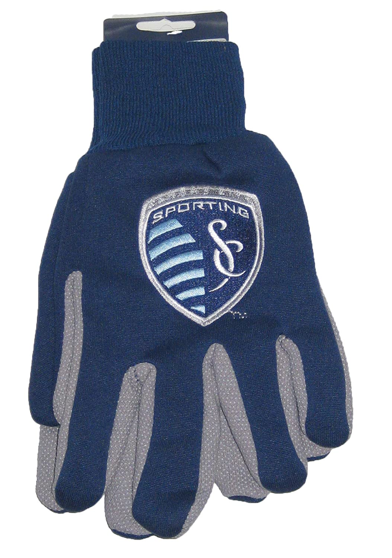 Kansas City Sporting SC MLSジャージースポーツ2つトーンユーティリティグリップ手袋 B00MXJQP1E