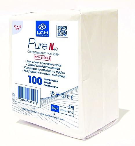 LCH N 40-100 gasa no tejida, no estéril, 10 x 10 cm