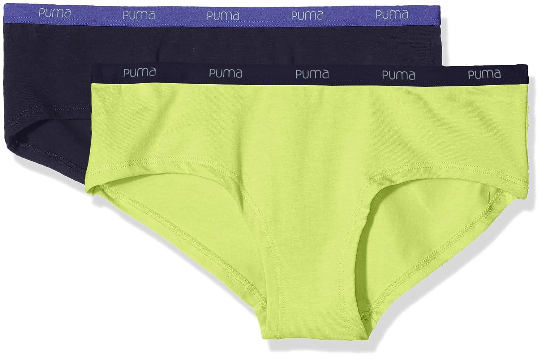 Puma Basic Hipster – Braguitas para mujer, paquete de 2