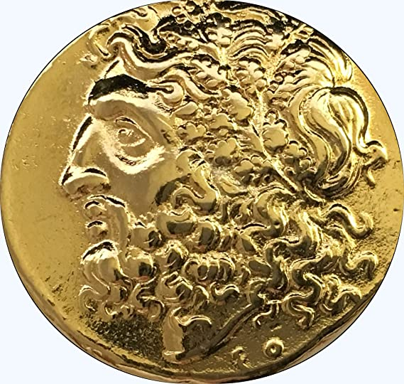 Percy/'s Uncle 86-G Percy Jackson Teen Gift Greek Coin Zeus King of the Gods