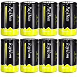 RayHom D Batteries Rechargeable 10,000mAh Ni-MH High Capacity Battery (8 Pack)