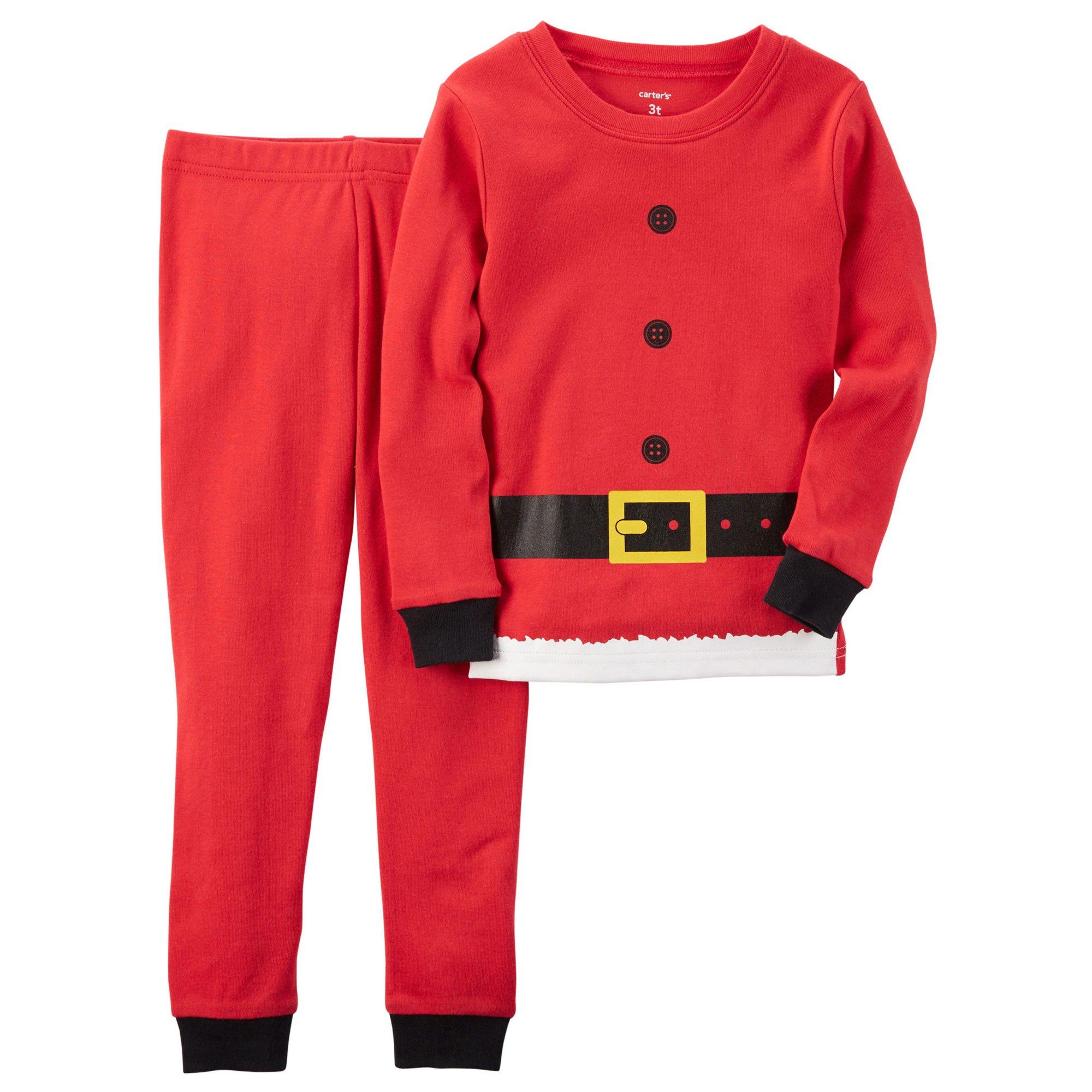 Carter's Boys' 2T-4T 2 Piece Santa Suit Pajama Set 3T