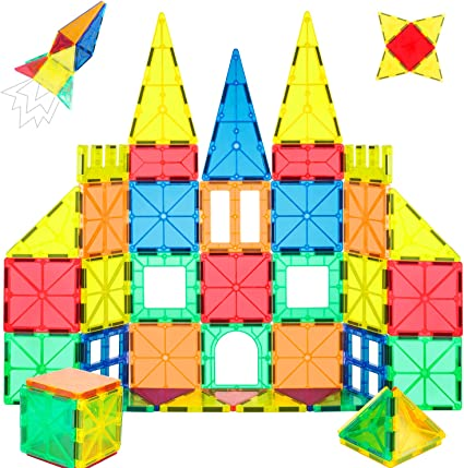 32Pcs Magnet Tiles Magnetic 3D Building Blocks Set Educational Construction Toys