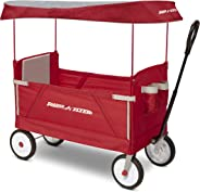 Radio Flyer 3951Z 3-In-1 Ez Folding Wagon with Canopy For Kids & Cargo, Red