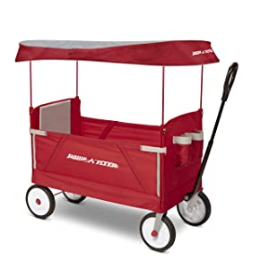 Radio Flyer 3951Z 3-In-1 Ez Folding Wagon with Canopy For Kids & Cargo
