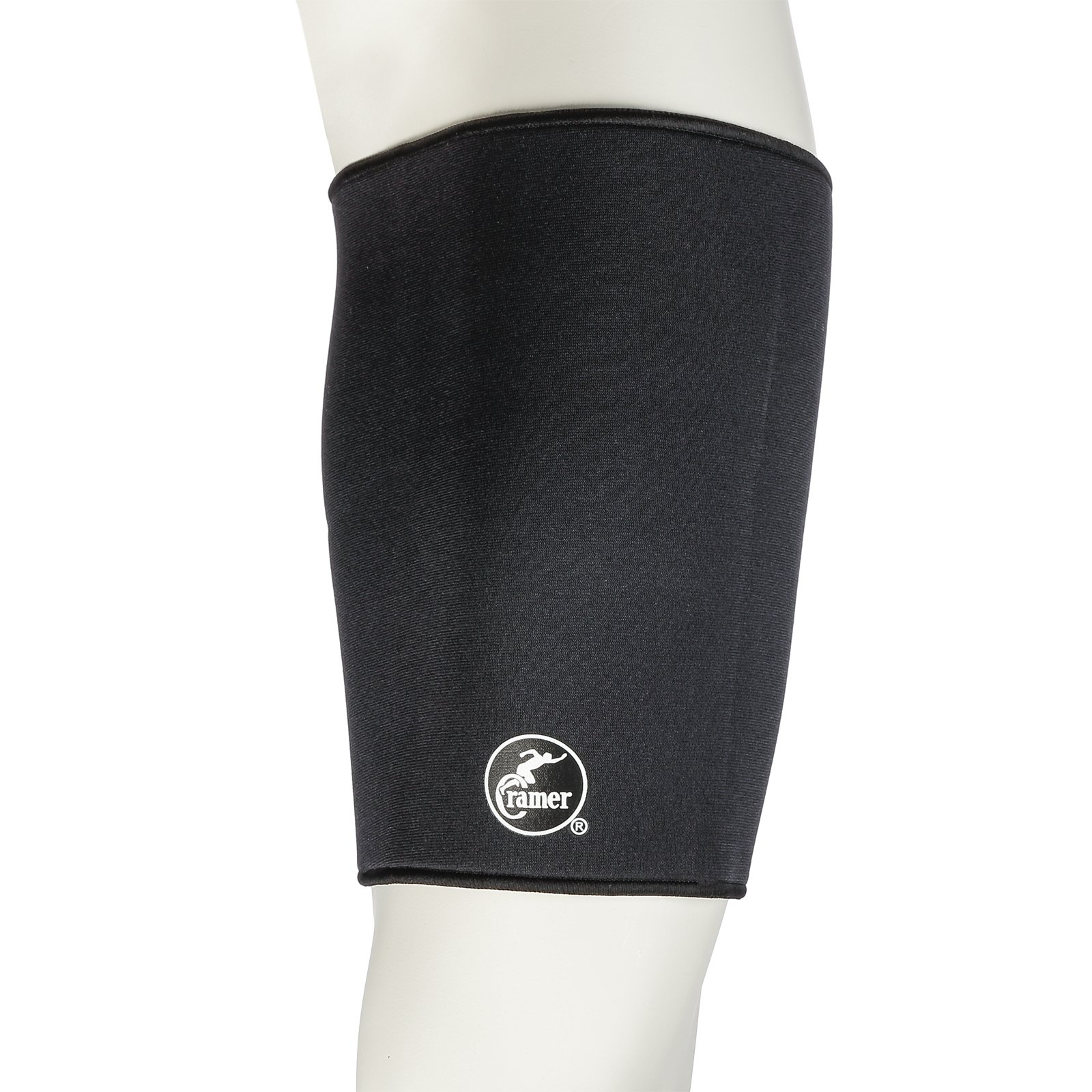Cramer Neoprene Thigh Compression Sleeve, Best Thigh Support For Quadriceps & Hamstrings, Compression Sleeves For Running, Quad Support Compression Leg Sleeves, Pulled Muscle Recovery, Black