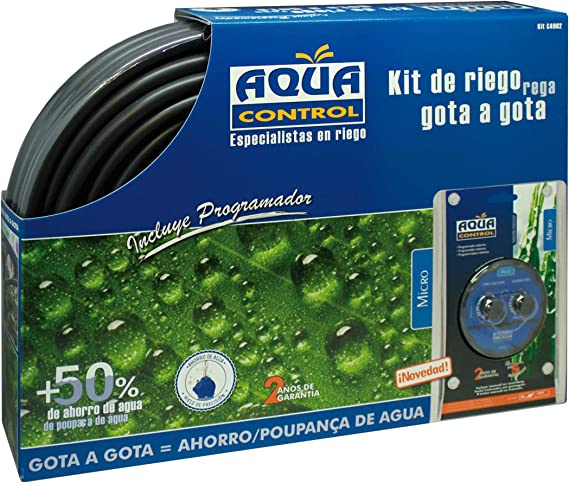 Aqua center M292877 - Kit de riego gota a gota con programador ...