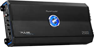 Planet Audio PL2500.1M Monoblock Car Amplifier - 2500 Watts, 2/4 Ohm Stable, Class A/B, MOSFET Power Supply, Great for Subwoofers
