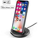 NXET® Chargeur Dockstation Station d'accueil Support pour for Apple iPhone XS Max XR X 8 7 6S 6 Plus SE 5S 5C 5 / iPad Mini / iPad Air / iPad Pro / AirPods and iPod Series