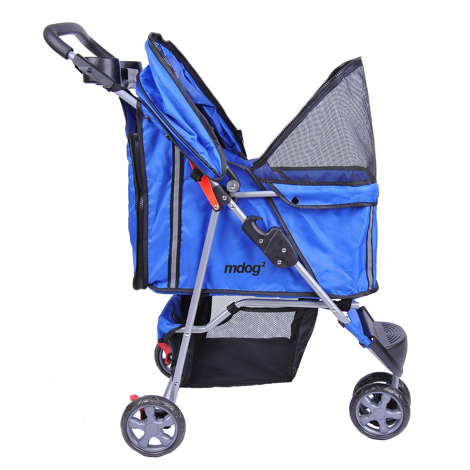 MDOG2 MK0015A 3-Wheel Front and Rear Entry Pet Stroller, Blue by MDOG2 (Image #2)
