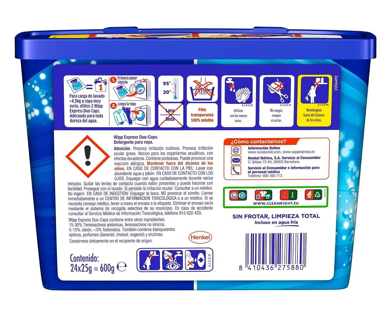 Wipp Express Detergente en Cápsulas - 24 Lavados: Amazon.es: Salud y cuidado personal