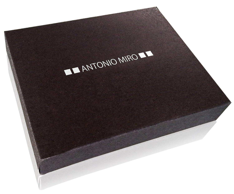 ANTONIO MIRÓ Tarjetero Piel para 20 compartimentos - Satisfacción Garantizada - Presentación caja con logotipo ideal para regalo (Gris)