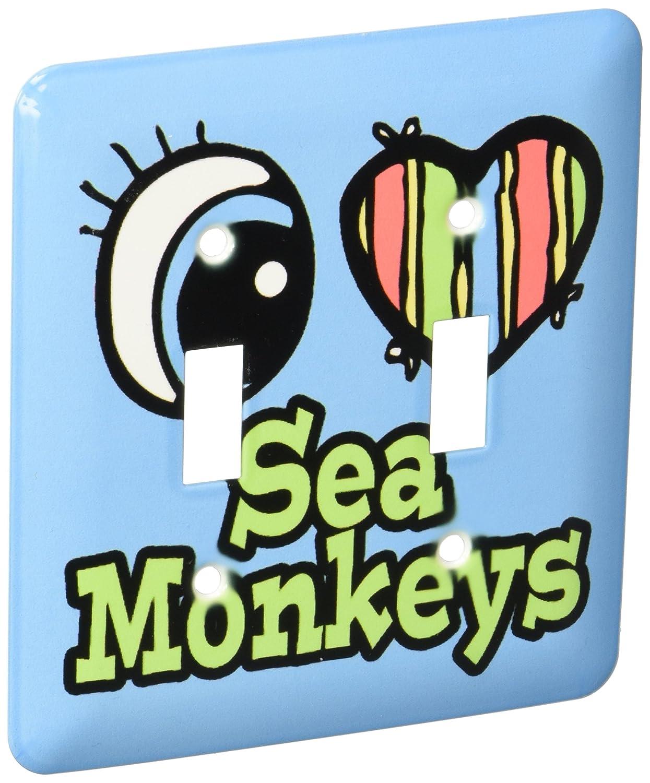 3dRose lsp_106498_2 Bright Eye Heart I Love Sea Monkeys Double Toggle Switch