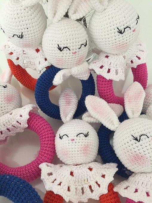 Amazon.com: Handmade Bunny PInk Crochet Bunny Plushie Doll ... | 679x509