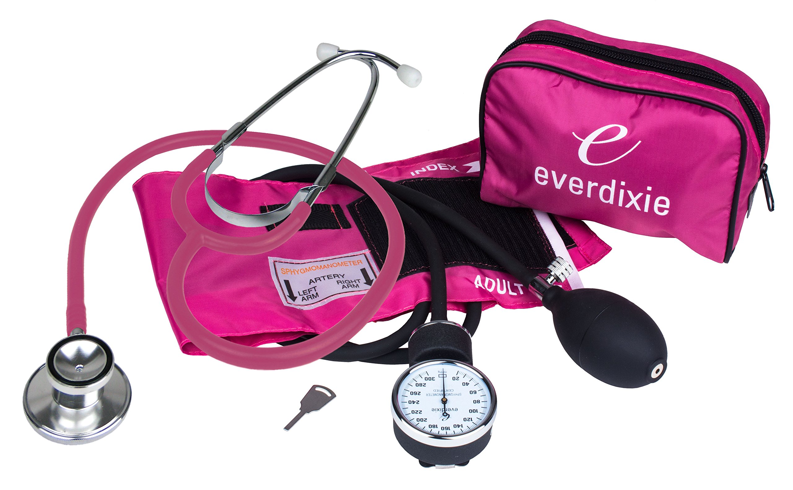 1e097383 Amazon.com: Dixie Ems Blood Pressure and Dual Head Stethoscope Kit (Pink):  Health & Personal Care