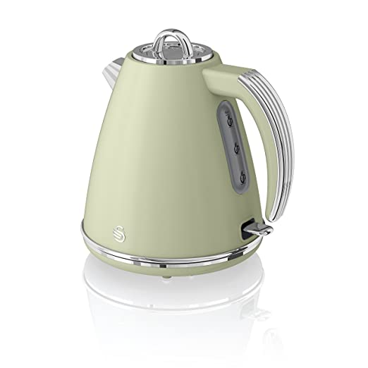 Swan, SK19020GN, Retro 1.5 Litre Jug Kettle with 360 Degree ...