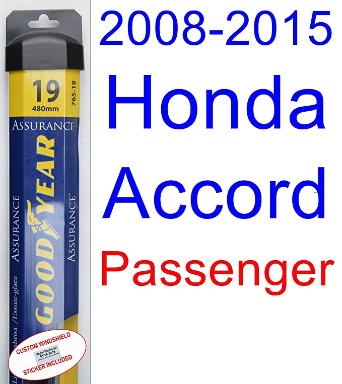 Amazon.com: 2008-2015 Honda Accord Replacement Wiper Blade Set/Kit (Set of 2 Blades) (Goodyear Wiper Blades-Assurance) (2009,2010,2011,2012,2013,2014): ...