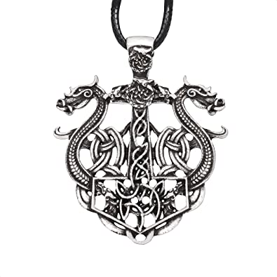 Silver Alloy Celtic Symbol Pendant Braided Red Leather Ethnic Tribal Necklace