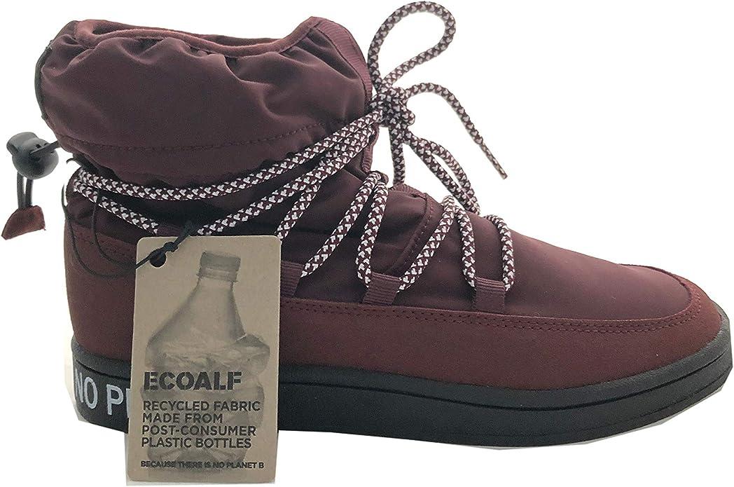 ECOALF Wheeler Botas de Invierno para Mujer, Color Rojo